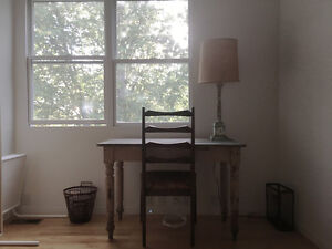 Rustic refinished pine desk or kitchen table
