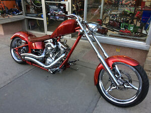 NEW CUSTOM SHOW HARLEY ONLY 300kms TRY YOUR TRADE