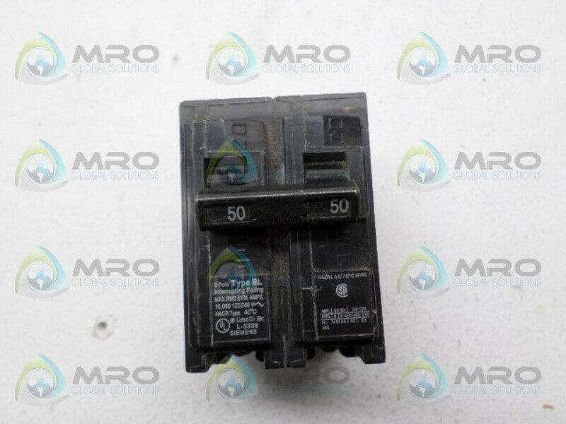 SIEMENS BL250 CIRCUIT BREAKER 50A *USED*