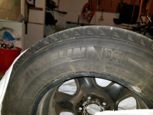 Michelin green x snow tires  215 70 r16 and rims