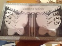 Wedding wishes white butterflies / guest book