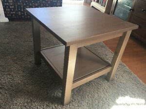 GREY WOODEN END TABLE