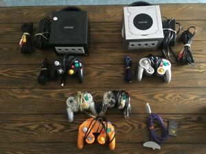 Gamecube consoles and games for sale.