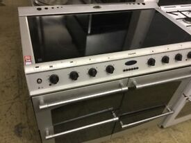 Fusion silver electric cooker range large.
