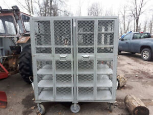 Tool Carts on wheels enclosed cages  Lockable