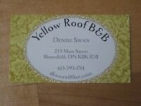Yellow Roof B&B - Prince Edward County