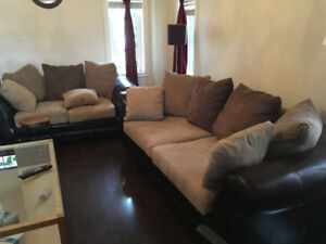 Sofa , Love seat and cetnre table