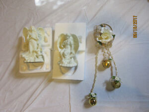 Christmas Angels  and bells hanger deco.