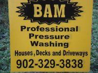 PROFESSIONAL HOUSE,WINDOWS,DECKS PRESSURE WASHING (BAM)