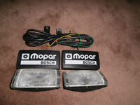 Genuine Mopar Bosch driving lights with wiring and switch