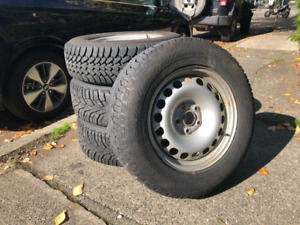 Volkswagen Rims with Nord Frost 100 Winter Tires