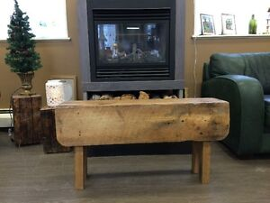 HANDCRAFTED CEDAR BENCH GREY BASE - GORGEOUS!! Kitchener / Waterloo Kitchener Area image 6