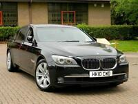 2010 10 BMW 7 SERIES 3.0 730Ld SE LWB 4dr WITH FSH+REAR HEATED SEATS+MEDIA PACK