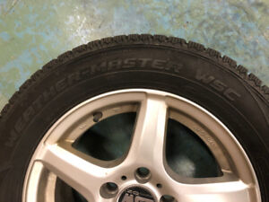 Cooper Weather-Master 195/65 R15 winter tires on Wheels