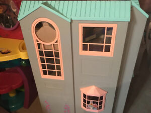 Girls bedroom accessory , Barbie foldable house, toy strollers.