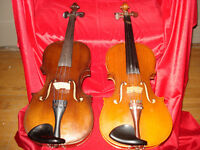 Two Violin's and case for sale $500