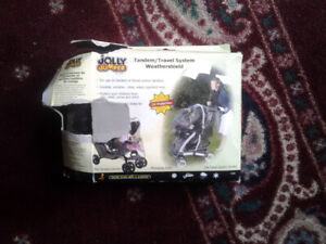 ☺ jumper double stroller weathershield