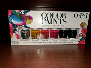 Opi color paints nail polish in box