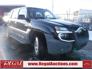 2002 CHEVROLET AVALANCHE 4WD  4D UTILITY 4WD