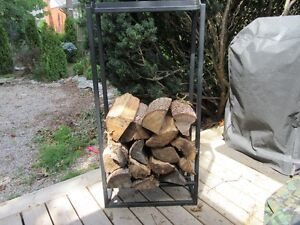 Log Stand for In the Home - Heavy, iron, custom made