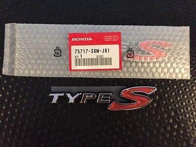 Genuine OEM Honda S2000 Rear Type-S Black JDM Emblem 75717-S2A-000 /'Type-S/'