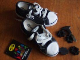 Heelys Dual Up Girl's Sneakers Wheeled shoes UK 13 Euro 32