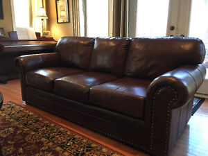 Leather Sofa and Two Chairs FOR SALE
