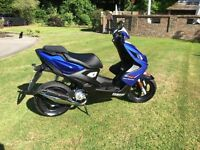 Yamaha Aerox R moped scooter 50cc 2013 low mileage