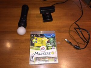 PlayStation Move (controller and eye) & Tiger Woods Masters