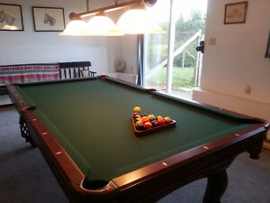Connelly Billiards Table, balls, cues