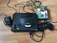 Sega megadrive console & game