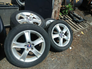 Saab 9-2x 2.5i rims and tires for sale. 16x6.5  5x100.