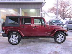 2008 Jeep Wrangler Unlimited Sahara Hardtop and Soft Top