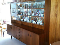 Unique Beautiful Solid Wood Dining Hutch China Cabinet