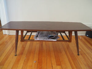 ON HOLD Wood / Laminate Coffee Table w/ extra storage