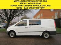 2014 64 MERCEDES-BENZ VITO 2.1 113CDI DUALINER LONG 136BHP. 4 LEATHER SEATS CREW