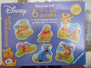 Ravensburger Disney Winnnie the Pooh 6 first Puzzles in a box.