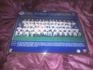 Toronto Blue Jays 1992 World Series Poster Framed Glass