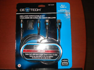 2 x 6ft. Deluxe High Speed/Ethernet HDMI Cable Kit With Adapter