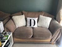 Lovely cream beige 2 seater and 3 seater sofas