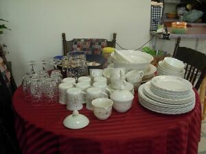 Table Charm Dishes  -  65 Pc Set  -  Victoria Pattern
