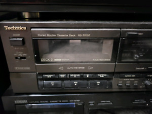Technics double cassette deck