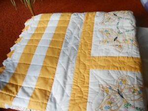 Yellow Queen Quilt