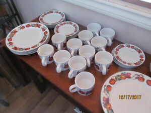 DINNERWARE BY ONEIDA, APPLES & WARBLERS, D.C.BROWN CO.