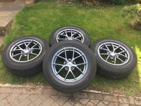 Honda CRV - Winter Tyres with Riva alloys.