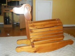 SOLID WOOD  CUSTOM MADE  ROCKING DOGGIE