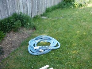 pool vacuum hose, used