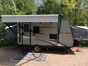 Keystone Passport 14exp Hybrid Travel Trailer