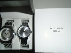 HIS AND HERS CARAVELLE WATCH SET