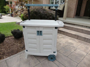 Suncast Portable Gardening Trolley Station in Clean Great Shape